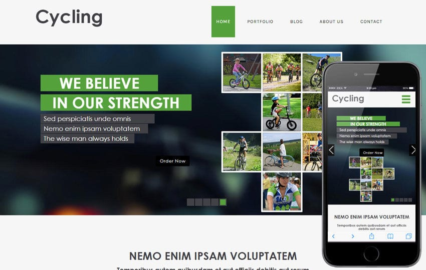 Cycling a Sports Category Flat Bootstrap Responsive Web Template Mobile website template Free