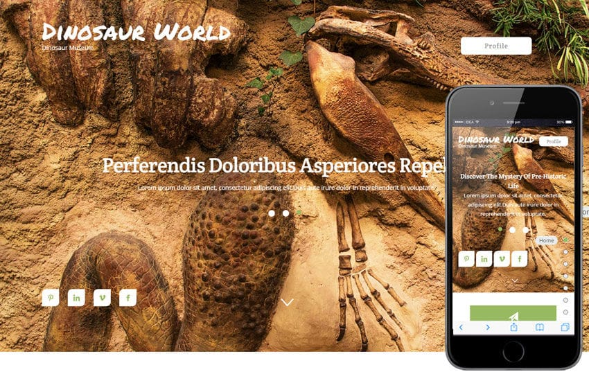Dinosaur World a Animal Category Flat Bootstrap Responsive Web Template Mobile website template Free