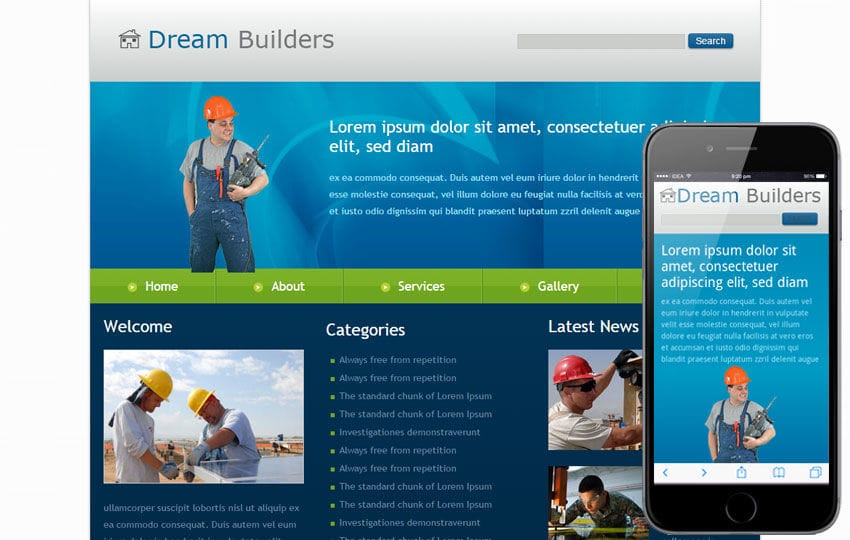 Free dream builders website and mobile website for for Dream house website
