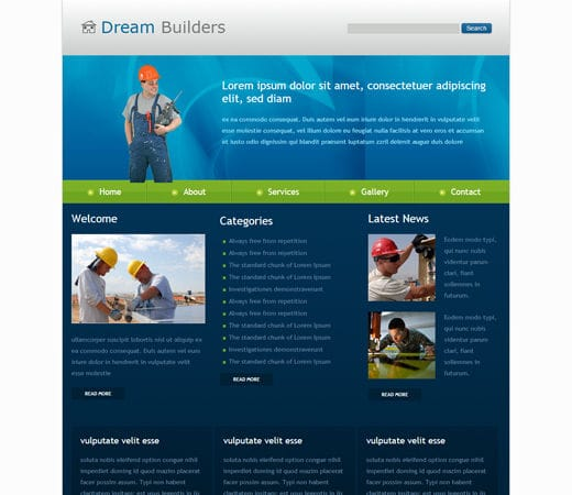 Dreams Construction Company: Free Dream Builders Website And Mobile Website For