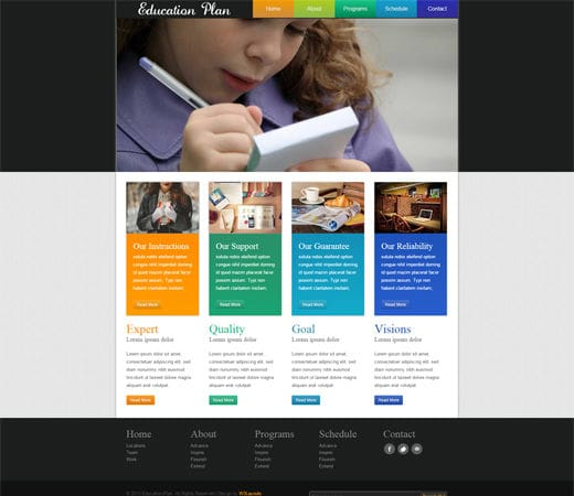 home education plan template home design and style best home page designs examples education edigital