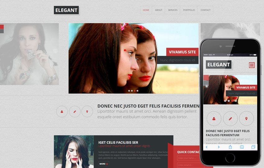 Elegant a Fashion Category Flat Bootstrap Responsive Web Template Mobile website template Free