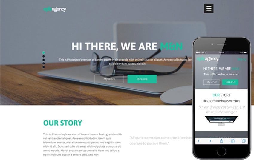 Epils Agency a Singlepage Multipurpose Flat Bootstrap Responsive web template Mobile website template Free