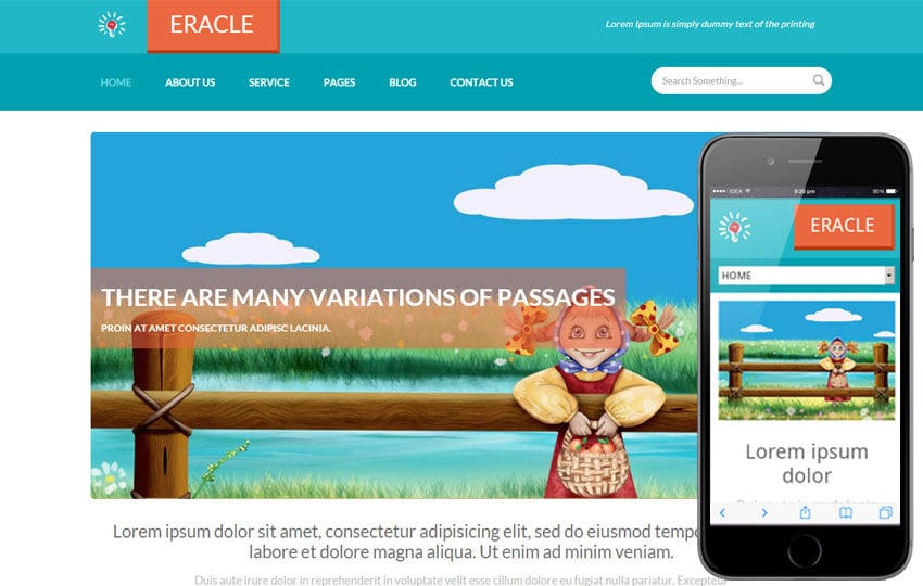 Eracle a Personal Portfolio Flat Responsive web template Mobile website template Free