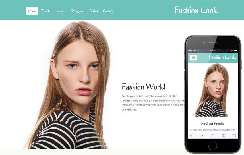 Fashion Look a Fashion Category Flat Bootstrap Responsive Web Template Mobile website template Free