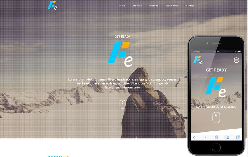 Fe a Corporate Multipurpose Flat Bootstrap Responsive Web Template Mobile website template Free