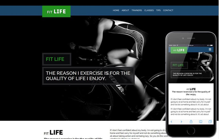 Fit Life a Sports Category Flat Bootstrap Responsive Web Template Mobile website template Free