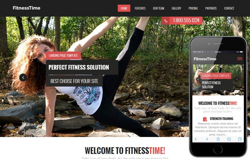 Fitness Time a Flat Sports Bootstrap Responsive Web Template Mobile website template Free