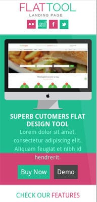 Mobile website Template Flat Tool Corporate Flat Responsive web template