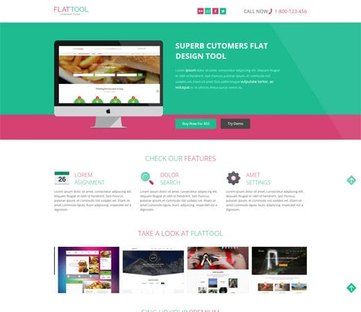 Free website template CSS HTML5 Flat Tool Corporate Flat Responsive web template