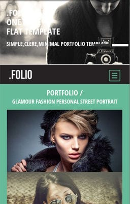 Free Iphone Smartphone web template Folio a Photographer portfolio Flat Responsive web template