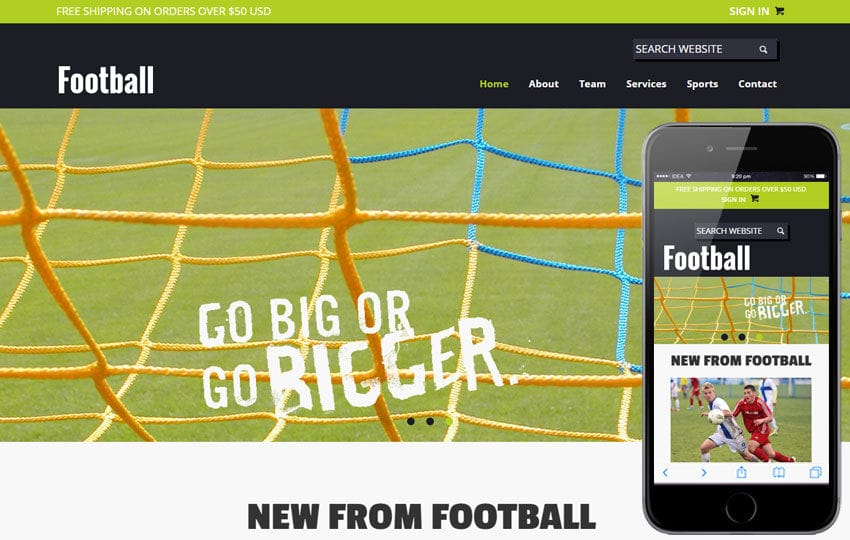 Football a Sports Category Flat Bootstrap Responsive web template Mobile website template Free