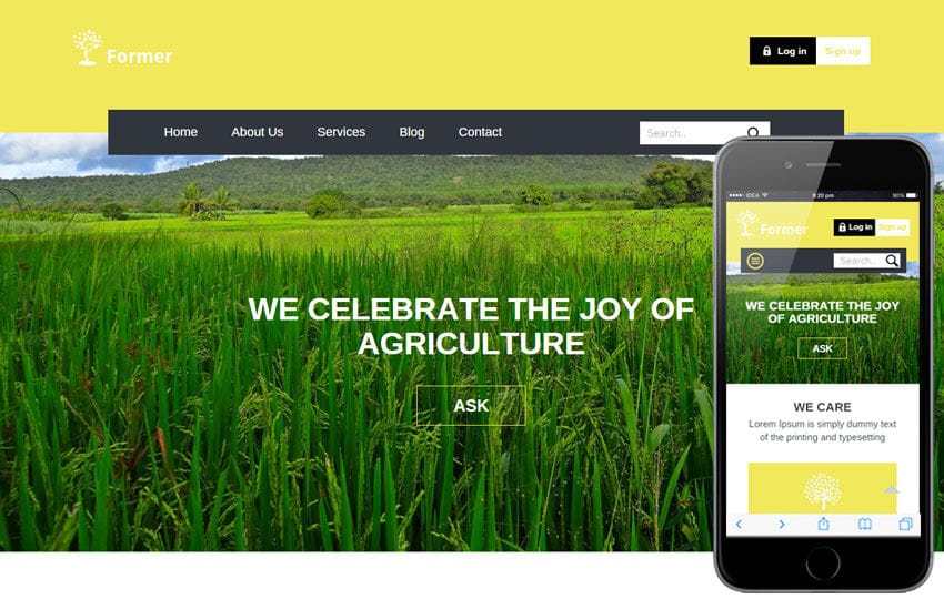 former a agriculture category flat bootstrap responsive web