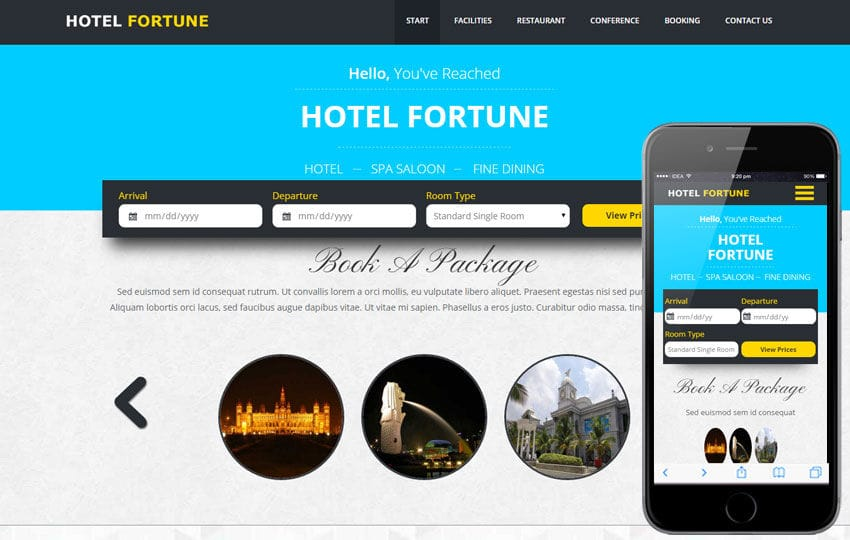 Fortune a Hotel Category Flat Bootstrap Responsive web template Mobile website template Free