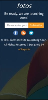 Mobile website Template Fotos Website Launching Soon Mobile Website Template