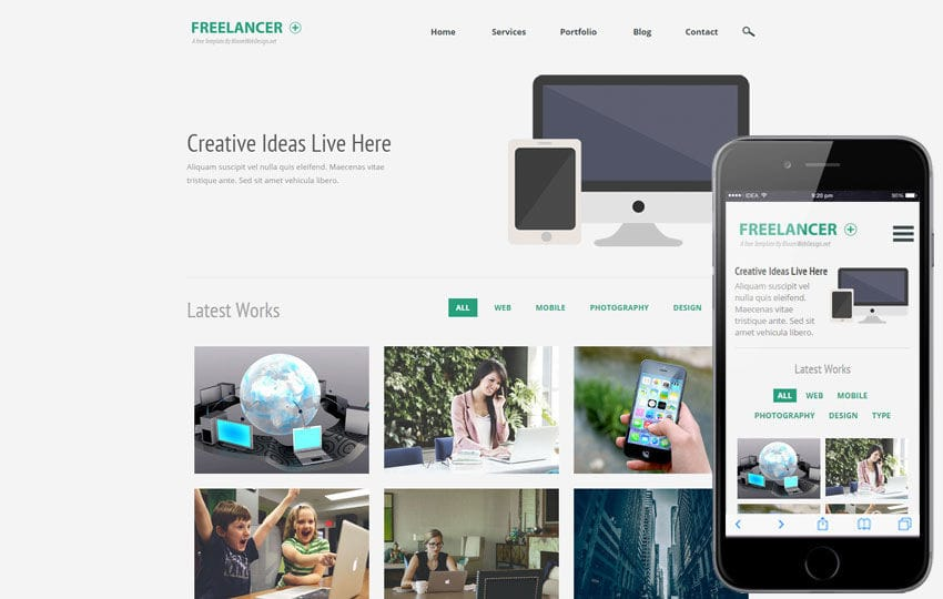 Freelancer Plus a Corporate Multipurpose Flat Bootstrap Responsive Web Template Mobile website template Free