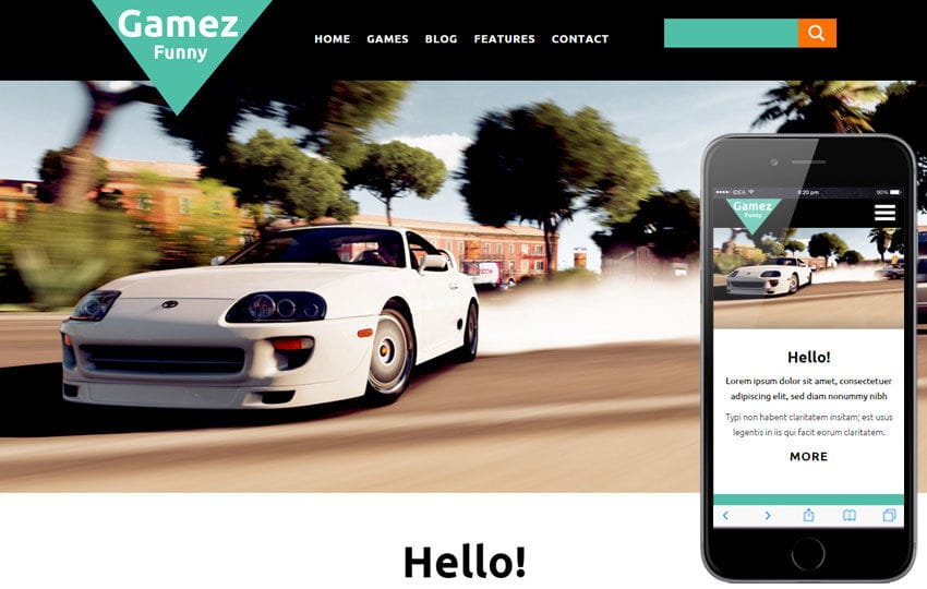 Gamez a Games Category Flat Bootstrap Responsive web template by ...