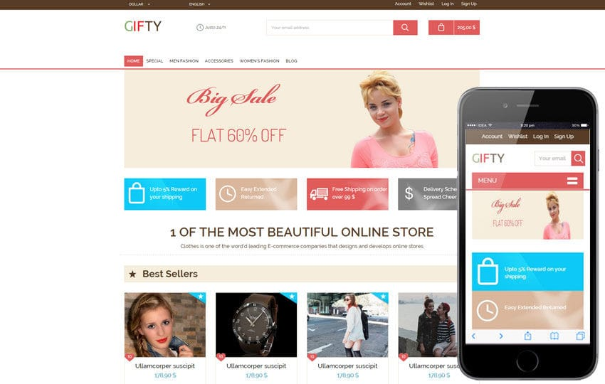 gifty a flat ecommerce bootstrap responsive web template by w3layouts. Black Bedroom Furniture Sets. Home Design Ideas