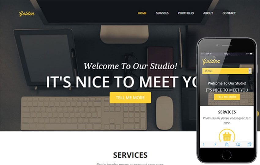 Golden a Corporate Flat Responsive web template