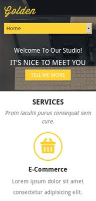 Mobile website Template Golden a Corporate Flat Responsive web template