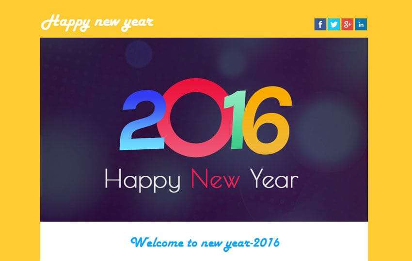 Happy New Year A Newsletter Responsive Web Template  WLayoutsCom