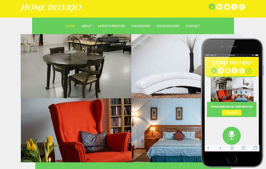 Home Interio a interior architects Multipurpose Flat Bootstrap Responsive web template Mobile website template Free