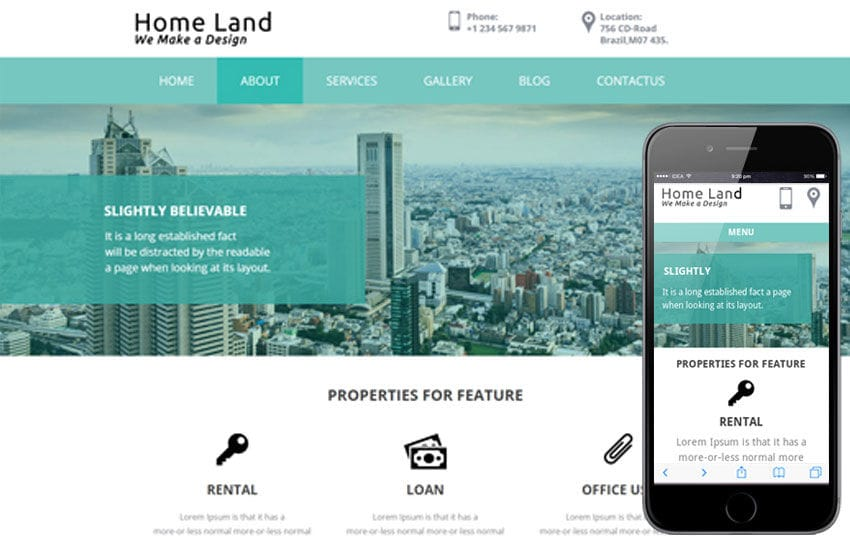 Home Land a Real estate Category Flat Bootstrap Responsive web template Mobile website template Free