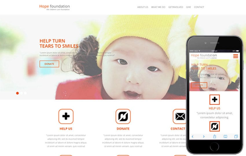 Hope Foundation a Charity Category Flat Bootstrap Responsive web ...