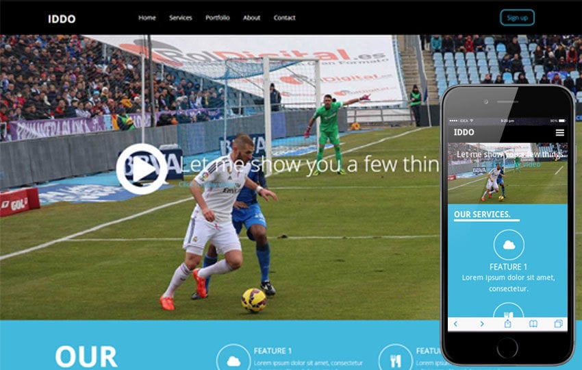 Iddo a Sports Category Flat Bootstrap Responsive web template Mobile website template Free