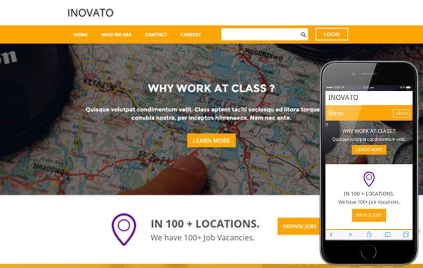 Inovato a Corporate Portfolio Flat Bootstrap Responsive web template Mobile website template Free