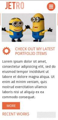 Mobile website Template Jetro Flat Corporate Responsive website template