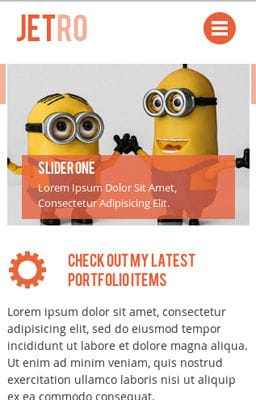 Free Iphone Smartphone web template Jetro Flat Corporate Responsive website template