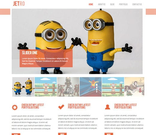 Free website template CSS HTML5 Jetro Flat Corporate Responsive website template