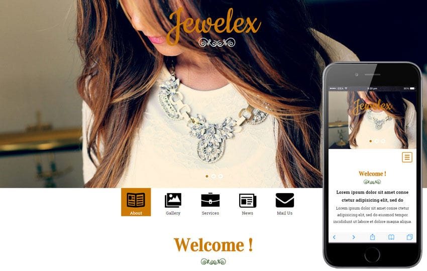 Jewelex a Jewellery Category Flat Bootstrap Responsive Web Template Mobile website template Free