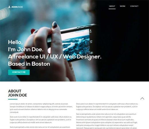 Free website template CSS HTML5 John Doe a Singlepage Portfolio Flat Bootstrap Responsive Web Template