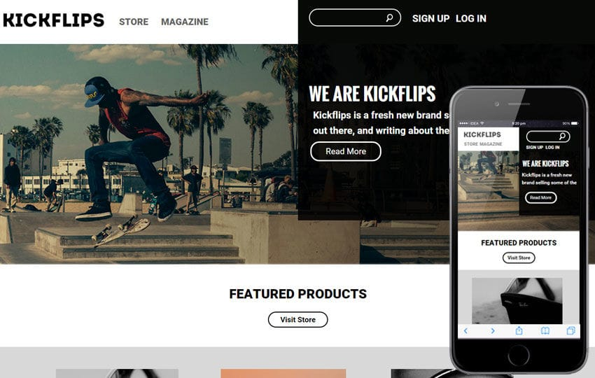 Kick Flips a Sports Category Flat Bootstrap Responsive Web Template Mobile website template Free