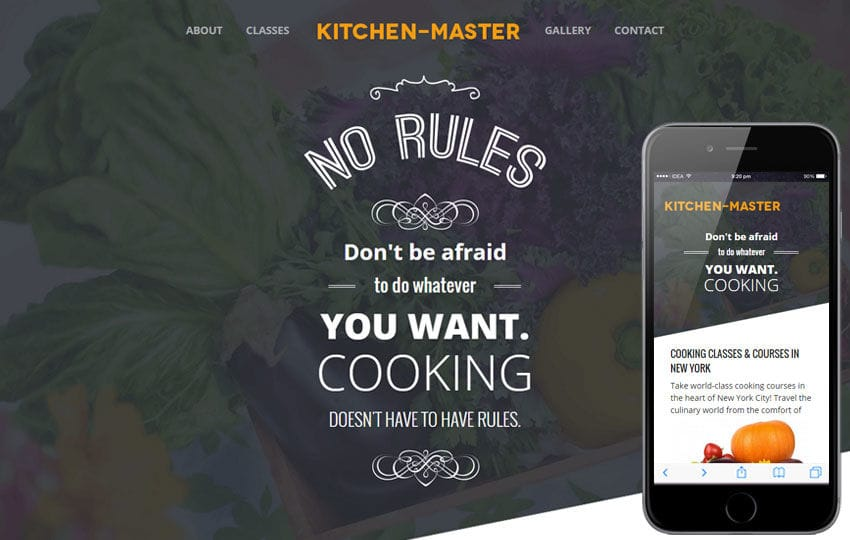 Kitchen Master a Food Category Flat Bootstrap Responsive Web Template Mobile website template Free
