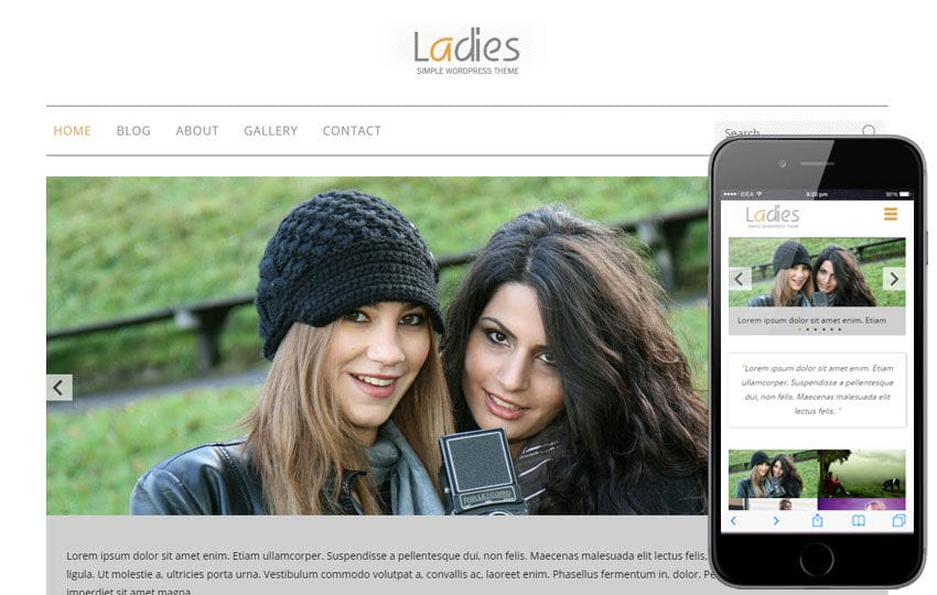 Ladies a Fashion Category Flat Bootstrap Responsive Web Template Mobile website template Free