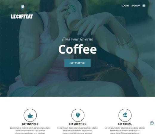 Free website template CSS HTML5 Le Coffeat a Hotel Category Flat Bootstrap Responsive web template