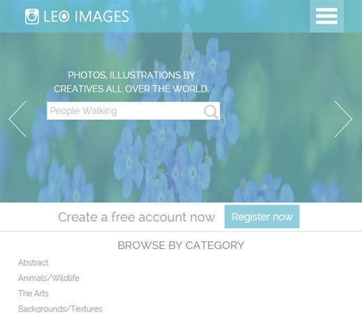 Free website template CSS HTML5 Leo Images a Flat Gallery Responsive Web Template