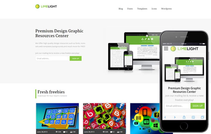 Limelight Download Gallery Responsive Website Template by w3layouts