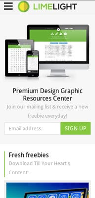 Mobile website Template Limelight Download Gallery Responsive Website Template