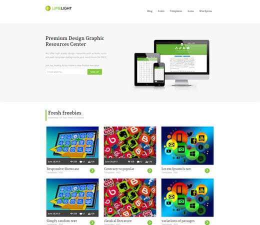 Free website template CSS HTML5 Limelight Download Gallery Responsive Website Template