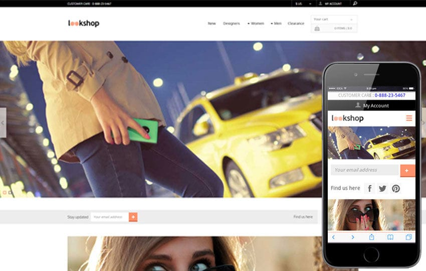 Look Shop a Flat ECommerce Bootstrap Responsive Web Template Mobile website template Free