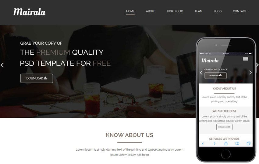 Mairala a Corporate Agency Flat Bootstrap Responsive web template Mobile website template Free
