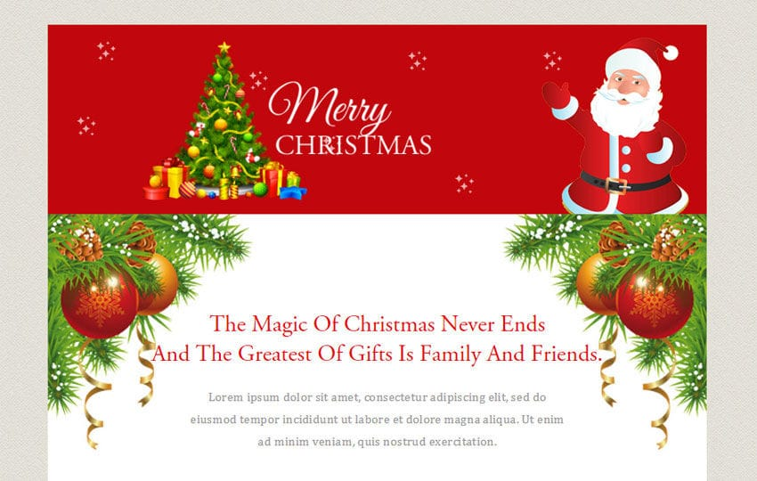 Merry Christmas a Newsletter Responsive Web Template
