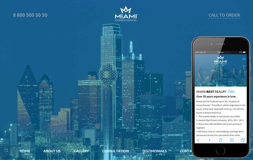 Miami a Flat Style Resorts Bootstrap Responsive web template Mobile website template Free