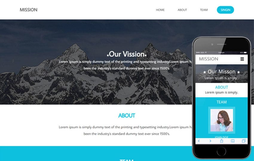 Mission a Corporate Flat Responsive web template