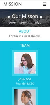 Mobile website Template Mission a Corporate Flat Responsive web template