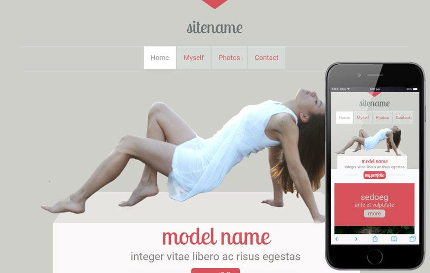 Modeling a Fashion Category Flat Bootstrap Responsive Web Template Mobile website template Free